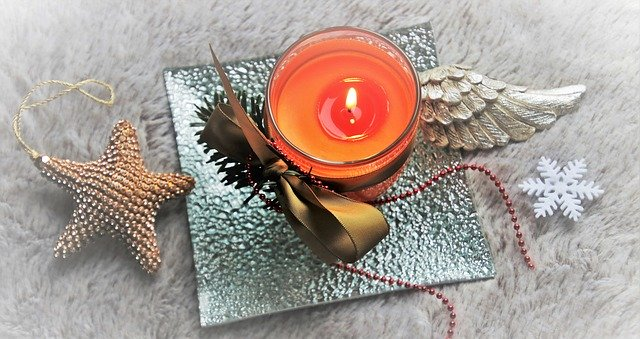 candle with wing